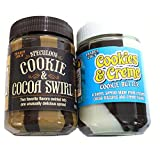 2 Pack - Trader Joe's Cookie Butters (Cookies & Creme and Speculoos Cookie & Cocoa Swirl)