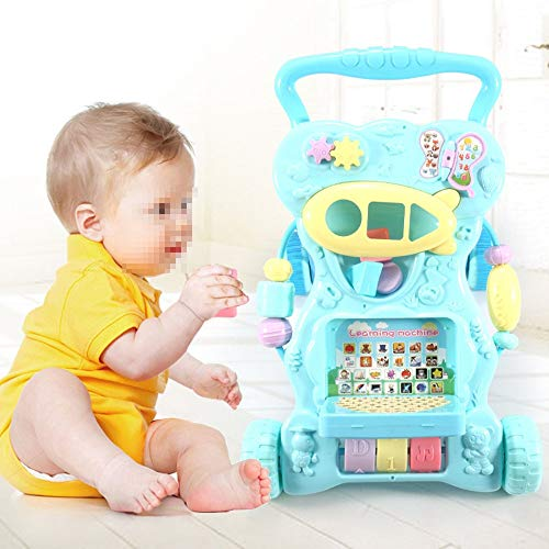 Ybriefbag-Toys Baby Three-in-one Activity Walker Infant and Child Anti-Rollover Walker 6-18 Months Baby Multi-Function Walker Trolley Toy (Color : Blue, Size : 42.34533.5CM) by Ybriefbag-Toys (Image #1)