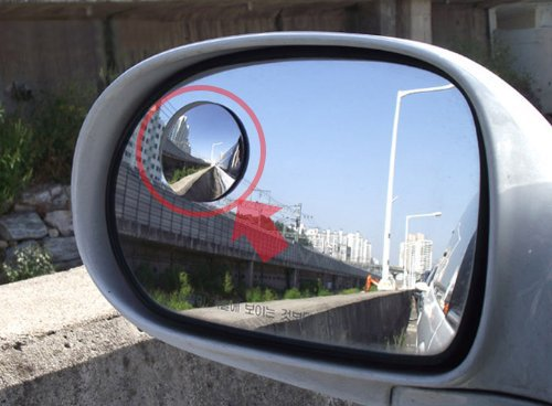 Cardeco Moving Slim Circle Blind Spot Mirror SL Lens 50.8mm 2-pc Set For All Universal Vehicles Car Fit by Automotiveapple