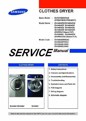 samsung dv448aep xaa service manual samsung amazon com books  dryer wiring diagram samsung service manual #1