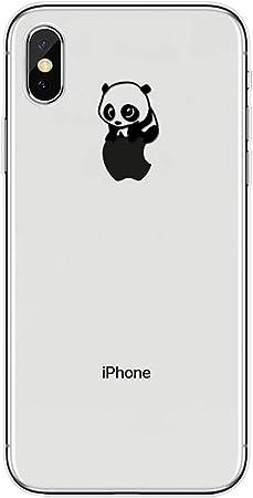Karomenic Silikon Hülle Kompatibel Mit Iphone Xr Kreative Cartoon Transparent Handyhülle Durchsichtig Schutzhülle Crystal Clear Weiche Soft Tpu Tasche Bumper Case Etui Panda 2 Musikinstrumente