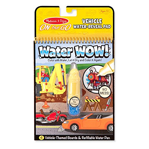 Melissa & Doug On the Go Water Wow! Reusable Water-Reveal Activity Pad - Vehicles -