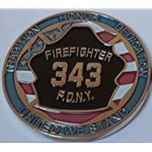 9-11 FDNY 15yr Anniversary Challenge Coin - SILVER LIMITED EDITION