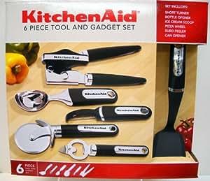 Amazon Com Kitchenaid 6 Piece Tool Amp Gadget Set Black