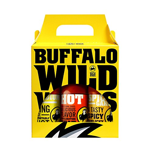 Buffalo Wild Wings Best Sellers Variety Pack (Medium, Hot, Spicy Garlic)