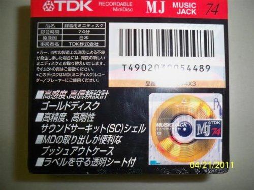 TDK 74-Minute Blank Audio MiniDisc, Single