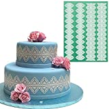Anyana huge Silicone Lace Mat, Vines, waves & Scrolls Cake Decorating Mold, Decorating Tools for Edible Lace Fondant Mold, Sugar-Lace Cupcake Mat