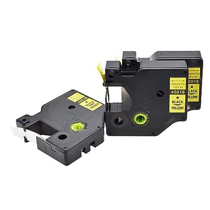 3x compatible con SZEHAM DYMO D1 45018 Cintas para impresoras de ...