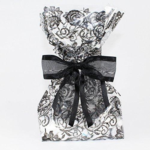 Elegant Cellophane Wedding Twist Tie Gusseted