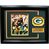 NFL Green Bay Packers Clay Matthews Framed Landscape Photo with Team Patch and Nameplate