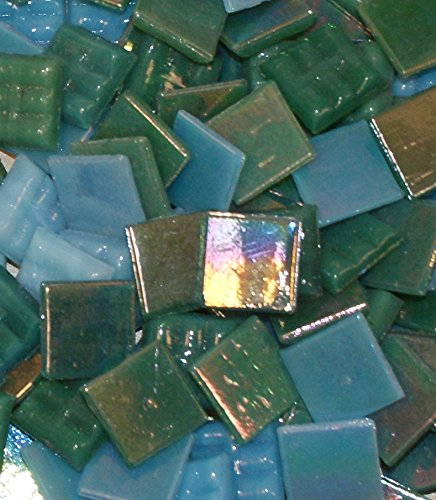 "- Hakatai Glass Mosaic Tile 5/8"" – ½ Pound Ocean Blend FBL06"