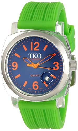 TKO ORLOGI Women's TK558-OGR Milano Junior Acrylic Case Orange Dial Watch (Dial Orange Juniors)