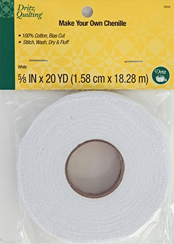 Dritz Quilting 3344 Make Your Own Chenille, 20-Yards, White (Chenelle Fabric)