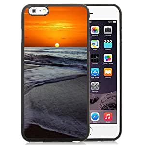 New Beautiful Custom Designed Cover Case For iPhone 6 Plus 5.5 Inch With Memorable Sunset Beach Phone Case