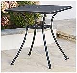 New 28'' Black Steel Bistro Table In/Outdoor Cafe Patio Dining Metal Mesh Top