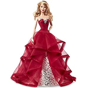 51L6GsB8MTL. SS300  - Barbie Collector 2015 Holiday Doll, Blonde