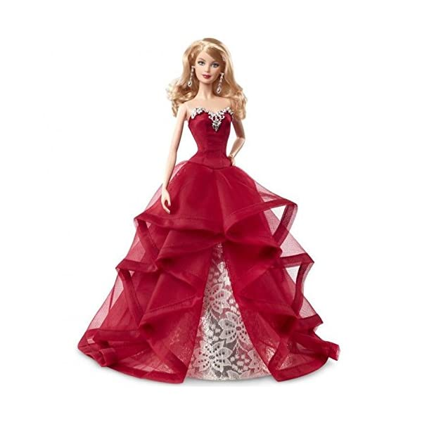 51L6GsB8MTL. SS600  - Barbie Collector 2015 Holiday Doll, Blonde