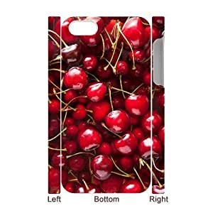 3D Bumper Plastic Case Of Cherry customized case For Iphone 4/4s