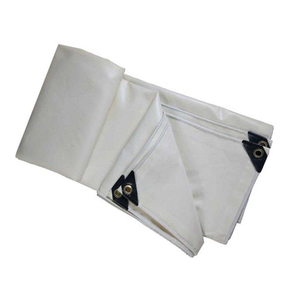 PENGFEI 厚い トラック オーニング ターポリン 防水 カーポート 雨布 ピクニックマット 防風 シェード PVC、 厚さ0.4mm、 500 g/m2 (色 : 白, サイズ さいず : 4 x 10m) B07D8RHTSH 4 x 10m|白 白 4 x 10m