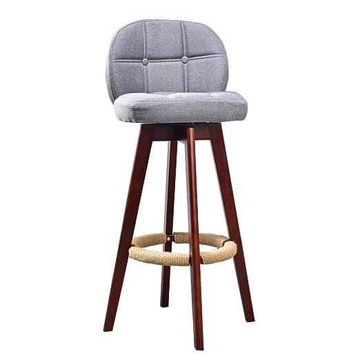 Nordic bar taburete lino tela cojín sillas de comedor para ...