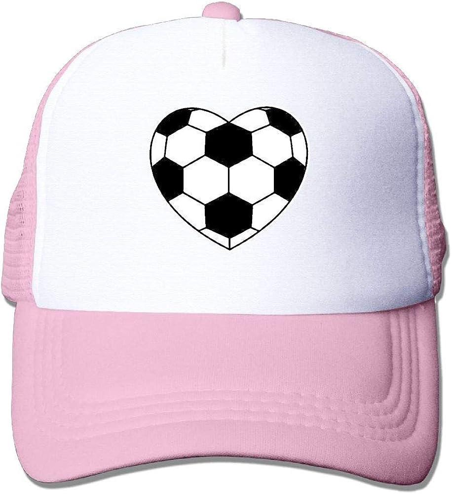 Sombreros de Malla Unisex Balón de fútbol en Forma de corazón ...