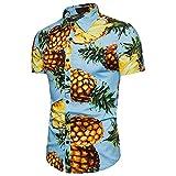 Best Print Wear Clothing Friend Gifts Shirts - WULFUL Men's Pineapple Hawaiian Tropical Shirts Short Sleeve Review