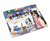 Rub A Dub Dogs in A Tub Biewer Terriers Dog Blanket BLNKT130314 (50x60 Sherpa)