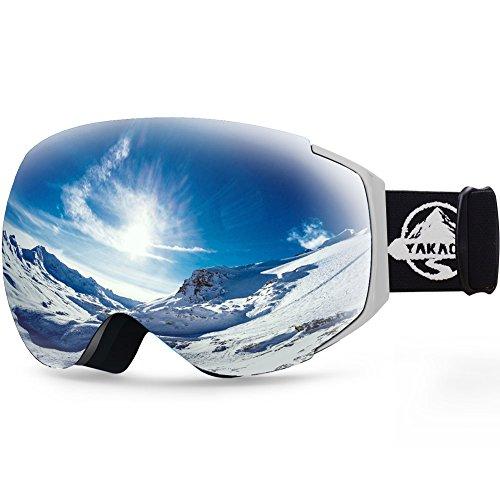 291d136e10 YAKAON Y Series Ski Goggles Snowboard Frameless Spherical UV Protection  Anti-Fog Lens for Men