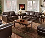 Simmons Upholstery 8001-04Q San Diego Coffee Bonded Leather Queen Hide-A-Bed