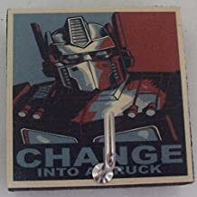 Agility Bathroom Wall Hanger Hat Bag Key Adhesive Wood Hook Vintage Change to a Truck Robot's Photo