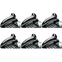 SKILCRAFT 7520-01-592-3859 Curved Plastic Telephone Shoulder Rest, 7 x 2 x 2-1/2 Inch Height, Black, 6 Packs