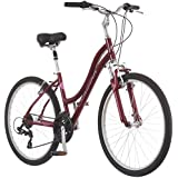 """Schwinn Suburban Deluxe Women's Comfort Bicycle 26"""" Wheel Bicycle, Red, 16""""/Small Frame Size"""