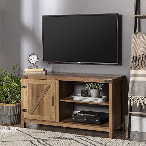 (WE Furniture AZ44BD1DRO Barn Door TV Stand, 44