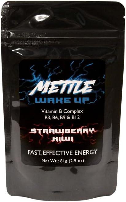 Energy Drink Powder - 25 Servings | Sugar Free | 200mg Caffeine - Mettle Energy Drink Mix (Strawberry Kiwi)