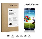[3PACK, LIFETIME WARRANTY] XOXO Mobile® Premium Tempered Glass Screen Protector for Samsung Galaxy S4 / i9500 - Real Tempered Glass - Scratch Proof - Oleophobic Coating - Ultra Crystal Clear - Easy to Install [2.5D Rounded Edges] [Super Thin 0.3mm]