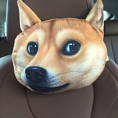 NEW Funny 3D Dog Face Cushion Sofa Plush Stuffed Pillow Home Car Seat Decor(dog)