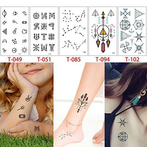 adgkitb Acuarela Animal Tattoo T Geometry Beauty Small Image Decal ...