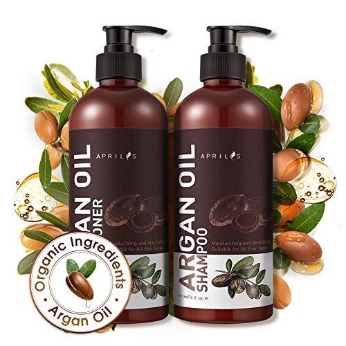 Shampoo Conditioner Sets, Aprilis Moroccan Argan Oil Hair Growth Shampoo...