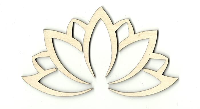 586ae2faba Amazon.com: Lotus Flower - Laser Cut Unfinished Wood Shape FLR6: Handmade