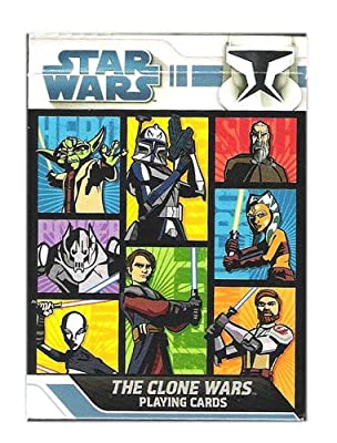 """Star Wars """"The Clone Wars"""" Collectible Playing Cards - Animated Series"""