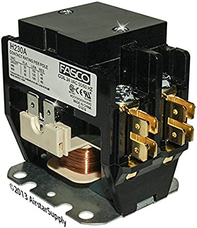 1 Pole 30 Amp 24 Volt Coil Condenser Contactor CTR02579 Replacement for Trane Single Pole