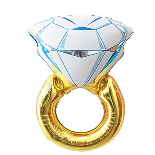 OULII Diamond Ring Design Balloon for Wedding Anniversary