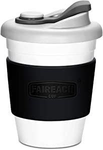 Coffee Cup with Lid, Faireach Reusable Coffee Mug with Non-slip Sleeve, Coffee Tumbler with BPA-Free Safe Material, Dishwasher& Microwave Safe, 12 oz (Black)