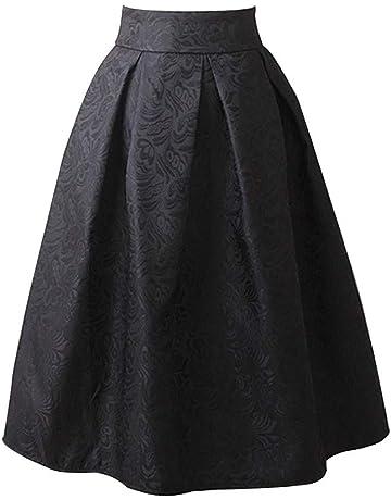 Mujer Midi Falda Corto Cintura Alta Elástica Plisada Básica Plisada Elegante A-Line Tutu de