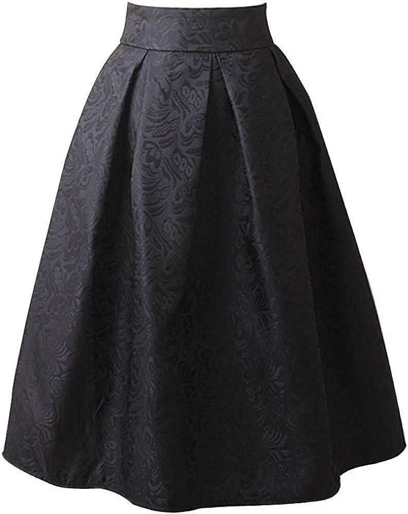 Falda para Mujer,Lenfesh Mujer Falda Cortas sólido Básica Primavera Verano Mini Falda con Pliegues Plisada Mini de Volantes