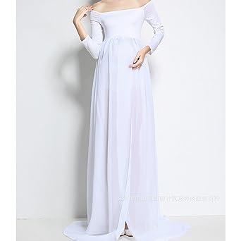 Vestidos de maternidad para mujer - Fuera del hombro, gasa, vestidos largos para embarazadas, accesorios de fotografía - hibote: Amazon.es: Ropa y ...