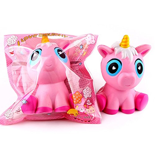 Joykith Jumbo Slow Rising Squishies Pink Unicorn Cream Scented Charms Kawaii Squishy Toys For ...