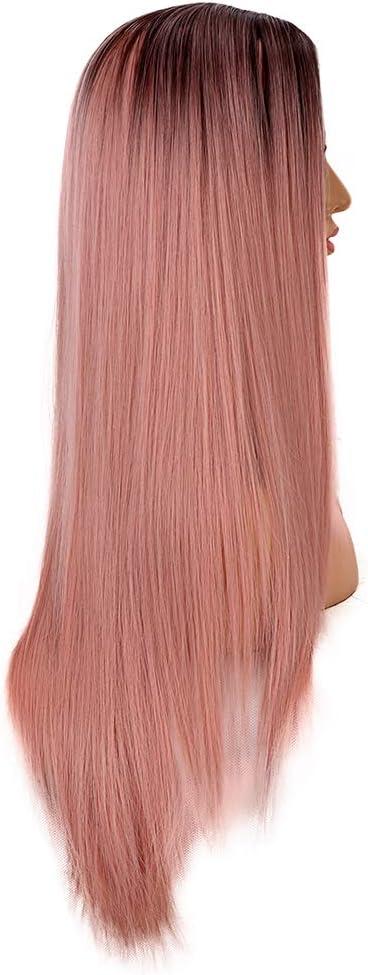 Arancione Rosa MapofBeauty 12 Pollice//30cm Medio Lisci Uomo Lisci Parrucche