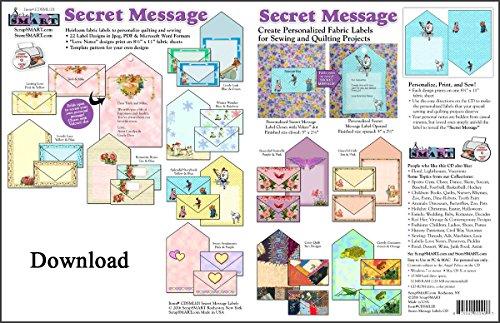 ScrapSMART - Secret Message Fabric Labels - Software Collection - Jpg & PDF files [Download]