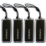 All Black 4pcs Genuine SAMSUNG EZON Digital Door Lock Key Tag Tags 13.56MHz RFID ISO14443 A Type for SHS-2320 SHS-2920 SHS-H620 SHS-H630 SHS-3120 SHS-3320 SHS-3420 (0+4B+0)